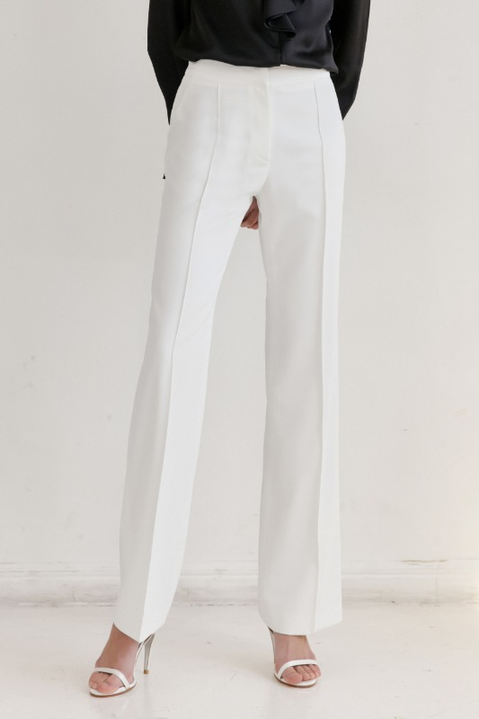 BREEZE Straight  trousers (White)