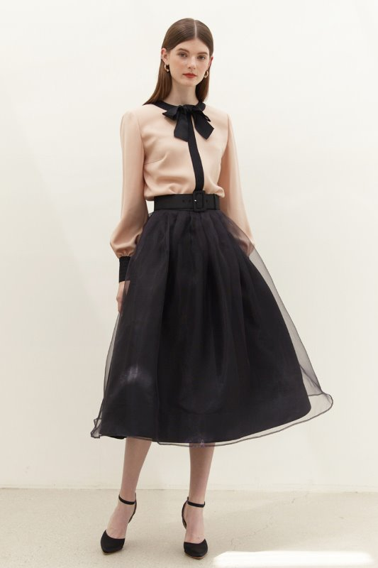 CHARMANT Tulle Skirt (Black)